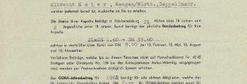 Gründung des Musikvereins Steinhausen-Muttensweiler e.V.